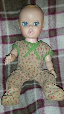 1972 Antique Gerber baby doll 11 inch clothes marked  girls world