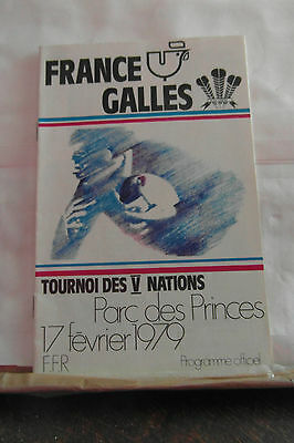 1979 france v wales  rugby union programme