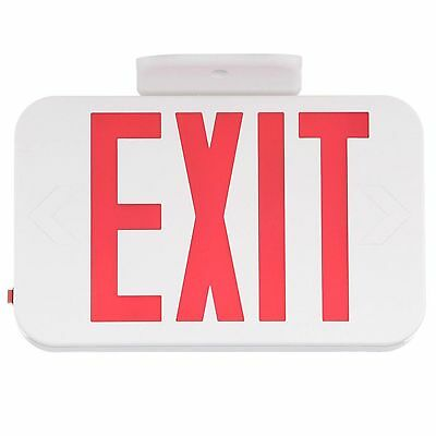 [NEW] Progress Lighting PE008-30 Thermoplastic LED Exit Sign with Red Letters