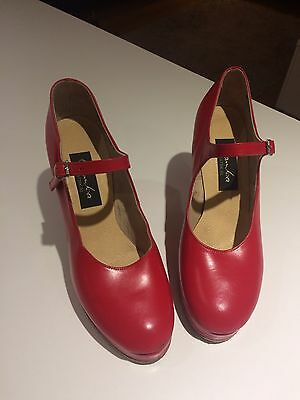 Gamba Dance Shoes Red Size 5