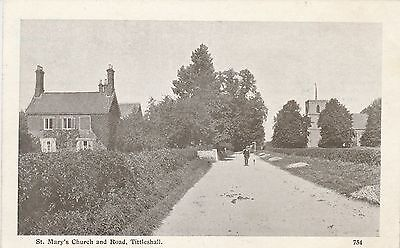 RP  Postcard. St. Marys Church & Road, TITTLESHALL.