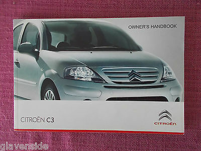 Citroen C3 Owners Manual - Owners Guide - Owners Handbook. (Ci 433)