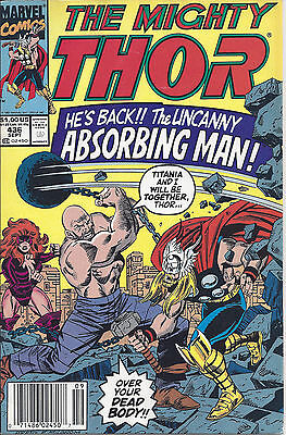 Mighty Thor #436 (Sept 91) - w/ the Absorbing Man, Captain America, Hercules