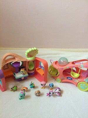 Littlest Pet Shop Bundle of Pets, Hospital  and cruiser car (3)