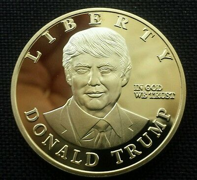 US Presidential Candidate Donald Trump Commemorative Silver Plated Commemo Coin