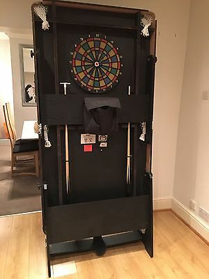 BCE 6ft SNOOKER/POOL TABLE VERTICAL FOLDING, WITH STORAGE AND COVER