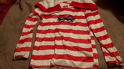 where's wally fancy dress costume age 8-10