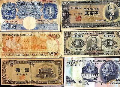 (28) Worldwide Currency Lot ~ Better Notes!