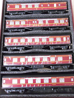 Boxed Set Of Ace Trains O Gauge Coaches C/2 LMS Merseyside Express x5