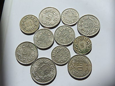 COLLECTION OF SWITZERLAND COIN Ref 138