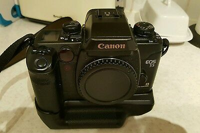 Canon EOS 55 35mm FILM (panoramic option) camera with BP50 grip.