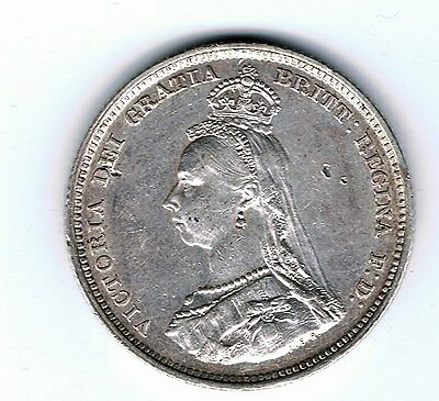 1887 Queen Victoria sterling silver one shilling coin - 5.6g
