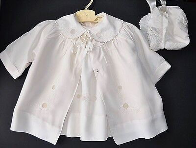 Vintage Baby Doll Dress 4-Piece Christening Gown