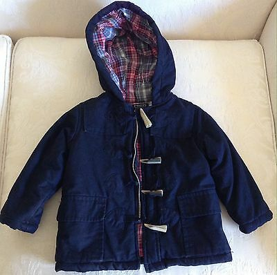 Fred Bare Navy blue Duffle Coat Toddler Boys Size 2