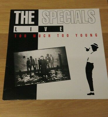 The Specials - Live - Too Much Too Young. ** Rare vinyl LP **