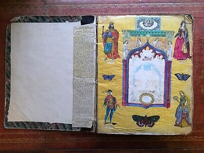 Victorian Scrap Book - full of cards and cutouts - 1880 - 1885