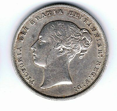 1852 Queen Victoria sterling silver one shilling coin - 5.6g