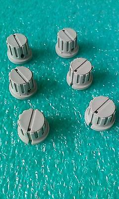 Lot Of 6 Sencore  Control Knobs With Skirt   1/4 Shaft