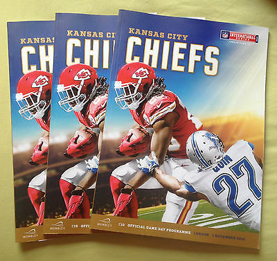 NFL OFFICIAL Programme Chiefs V Lions Wembley 2015 (Pristine Conditions)