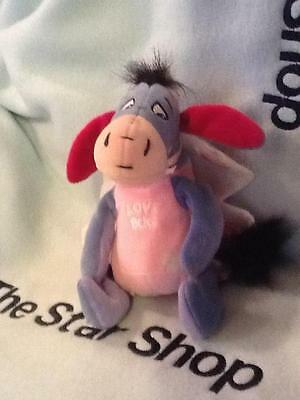 "Disney Cute Lovebug Eeyore Winnie The Pooh Valentines Plush Stuffed Animal 7"" Eu"