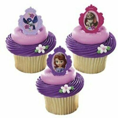 NEW Sofia the First Party Favour / Cupcake Rings (12) Partyware Gifts School