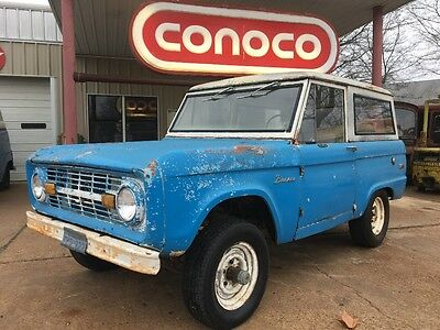 1971 Ford Bronco  1971 ford early bronco 1st generation 4x4 uncut barn find rare patina rat rod