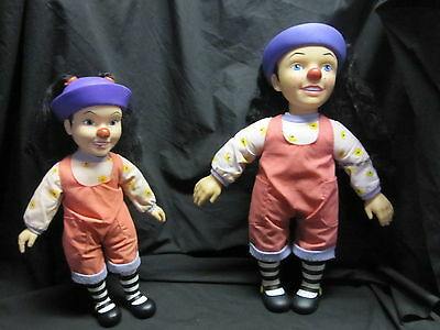 Lot of 2 LOONETTE the Clown DOLL- Big Comfy Couch Tv Show