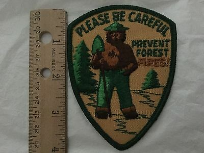 """Smokey The Bear Patch, 3"""" X 4"""". New, Prevent Forest Fires!"""