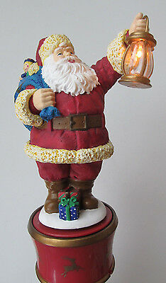 1998 Mr. Christmas Santa Tree Top Topper, Twirling Table Piece Lighted