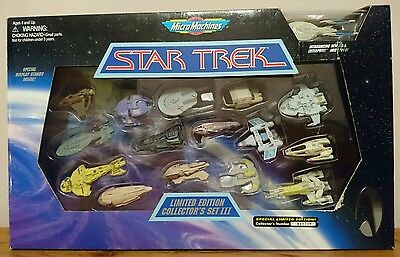 Micro Machines Space Star Trek Limited Edition Collector's Set III (3) Galoob