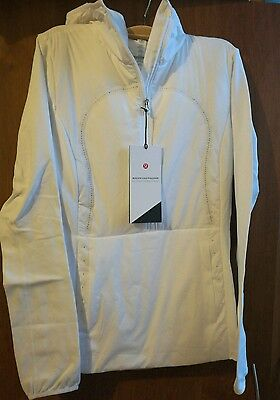NWT lululemon Run For Cold Pullover - Size6 white
