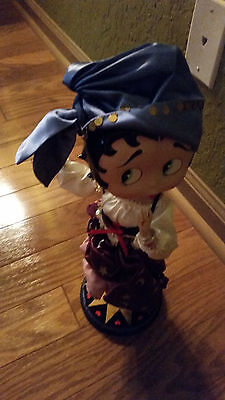 """Betty Boop Gypsy porcelain Doll 13"""" vintage, with stand"""