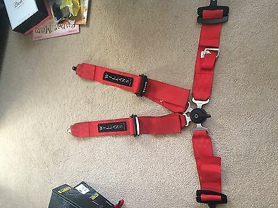 Willans Harness 4 Point Red
