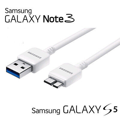 New Original OEM Samsung Galaxy Note3 S5 USB 3.0 Data Sync Cable White Q11
