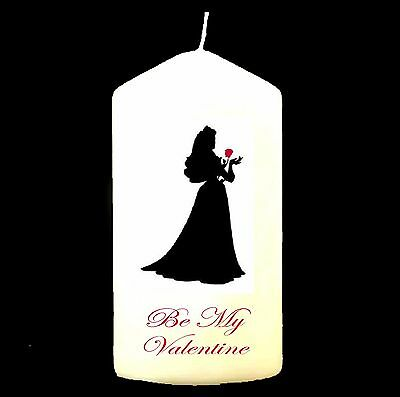 Be My Valentine Personalised Candle Sweetheart Boyfriend Girlfriend Unique #1