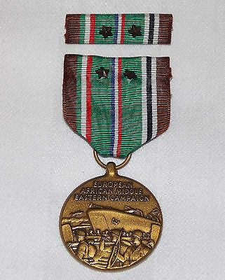 U.S. Army European African Middle East Campaign Medal w Bar & 2 Stars 1941-1945