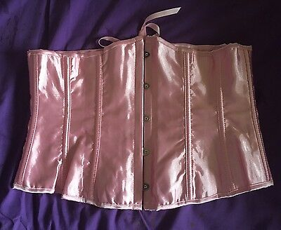 NWOT Baby Pink Corset Waspie Sz M 12 Costume Lingerie Gothic Pastel Goth Cute