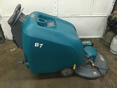 TENNANT B7 27-inch Battery-Powered Walk Behind Burnisher Under 500 Hours.