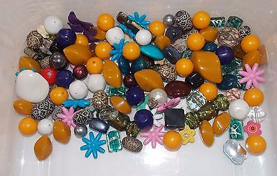 530 Grams Of Various Large Beads-Jewellery Making/craft Etc.