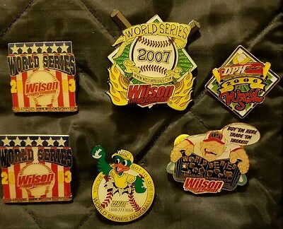 Little League Pins: Llws Pin Manufacturing Company Lot ( 6 Pins )