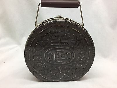 Vintage Oreo Cookie Collectible Metal Cookie Tin, Lunchbox, Purse,Tote
