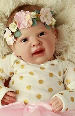 GINGER Reborn Baby Doll KIT with Cloth Body