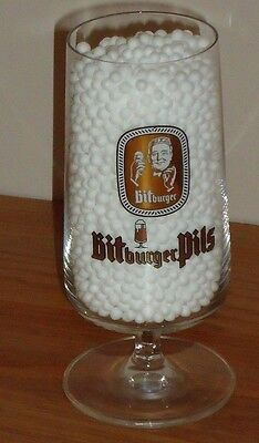 "BIT BURGER PILS pedestal beer glass 5.5""H"