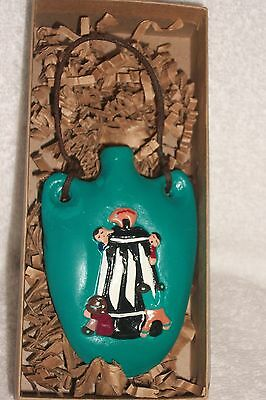 Storyteller Christmas Ornament or  wall hanging  Whitefeather Yaqui Handmade