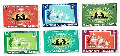 Cayman Islands # 277-2282 Complete Set Of 6 Chritmas Year 1970 Mint