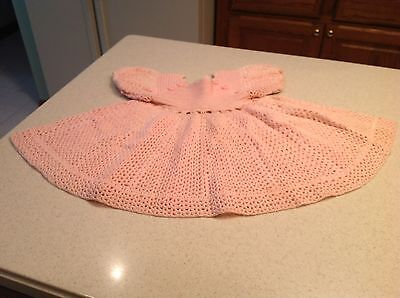 Early to Mid Century Handmade Childs Dress Pink With Buttons Vintage Very Nice
