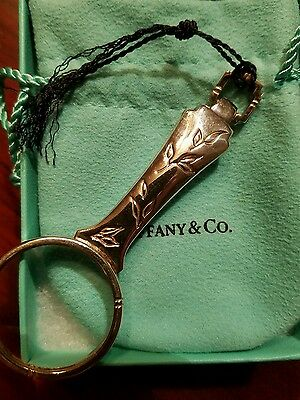 Tiffany & Co. sterling silver magnifying glass nature garden antique collection