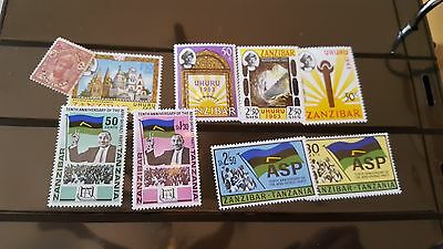 zanzibar stamps mnhog and used collection et310