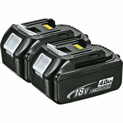 2 X New 18V 4.0Ah Lithium Ion Rechargeable Battery LXT For Makita BL1840 2 Pack