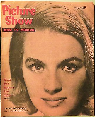 Picture Show & Tv Mirror 3/26/60~Angie/boone/rare Elvis Ad/sellers/jerry Lewis